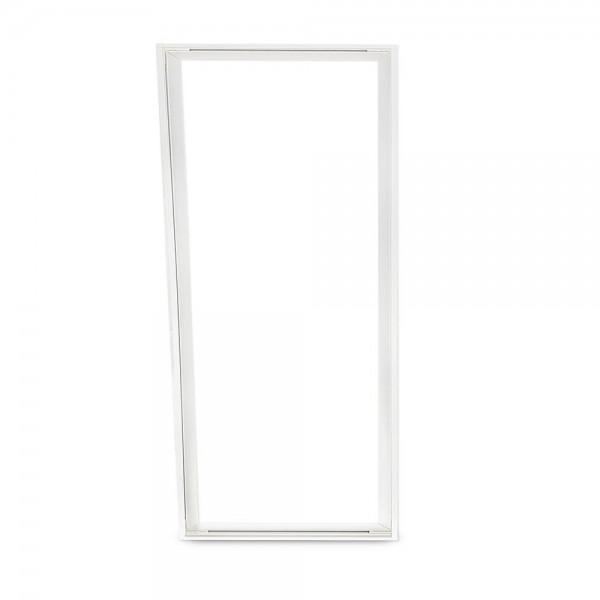 Aufbaurahmen für LED Panel 120x60 cm aus Aluminium (weiß)