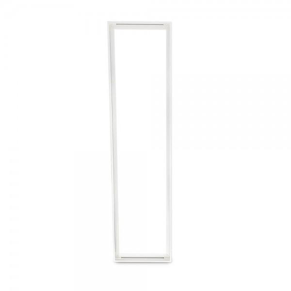 Aufbaurahmen für LED Panel 120x30 cm aus Aluminium (weiß)